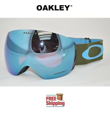 Oakley® Flight Deck™ Prizm™ Snow Board Ski Goggles Military Recon W/ Sapphire