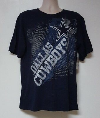 Dallas Cowboys NFL Men's Navy Team Logos Short Sleeve Team T-Shirts: L-XL