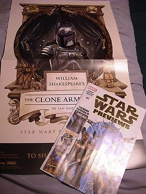 Star Wars The Clone Army Attacketh Promo Poster & Star Wars Previews Comic