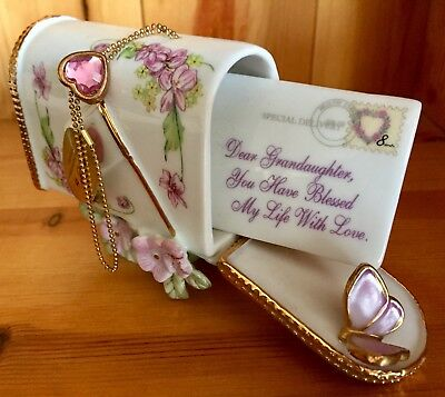 The Bradford Exchange 'Dear Granddaughter' - Ornament, Postbox, Gift, Free P&P