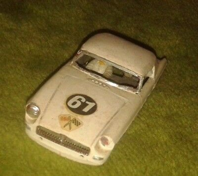 1/32nd scale MGB slot racing body with hardtop in need of some work