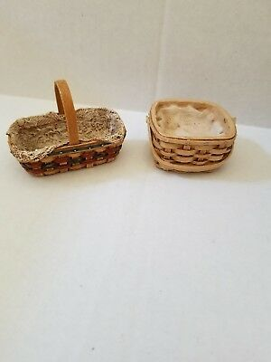 Longaberger Resin Debby Rubis Miniature Basket Autographed Signed