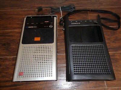 Vintage HITACHI TRQ-290 Cassette Tape Recorder w/ the original black vinyl case