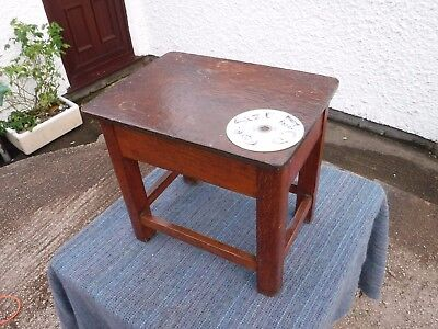 Small Vintage Wooden Stool Table  With  Storage.   Free  Delivery.