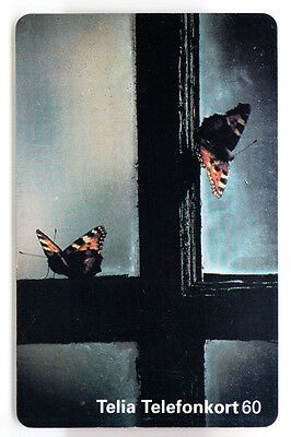 Europe  Telecarte / Phonecard .. Suede 60Mk Papillon Butterfly 12/95  Chip/puce