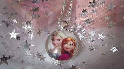 New Frozen  Princess Elsa,@ Anna  Charm Necklace 18 Inch 5 To 7  Gift Box,