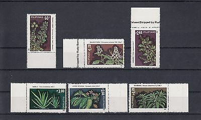 Timbre Stamp  6  Philippines Y&t#1436-41  Fleur Flower Neuf**/mnh-Mint 1985 ~A63