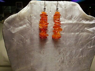 Natural Baltic Amber  Earrings #6 - Golden Nugget Amber!