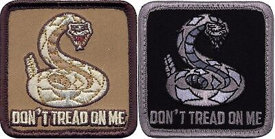 "Round 3/"" Don/'t Tread On Me Morale Snake Patch"