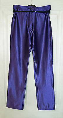 Vintage Purple Spandex Disco Pants/Jeans/Trousers