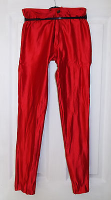 Vintage Red Spandex Disco Pants/Jeans/Trousers