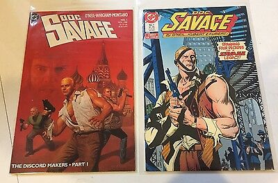 lot of 2 DOC SAVAGE #1 from 1987 & #1 from 1988 Denny O'Neil  DC Comcis