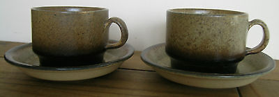 Iden Pottery Pair Of Cups & Saucers