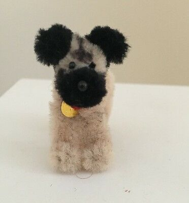 Tiny Handmade Pug Dog With Collar 1 Inch Tall Dollhouses Collectors Gift Boxed