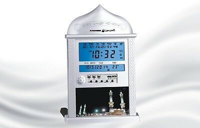 Azan Clock / Prayer Times / Qibla Direction / Hijri Calendar Wall/Table HA-4004