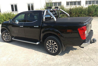 Nissan Navara NP300 Soft Roll Up Tonneau Cover and Roll Bar Combo