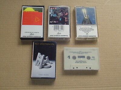 REO SPEEDWAGON lot of 5 classic hard rock metal music cassettes collection Only