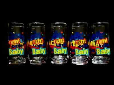 """1990's Vintage Diet Pepsi """"You Got the Right One Baby"""" set of 5 Drinking Glasses"""
