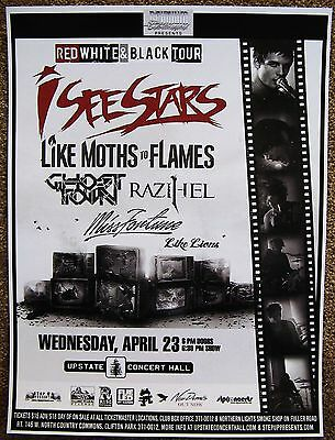 I SEE STARS 2014 Gig POSTER Concert Clifton Park NY