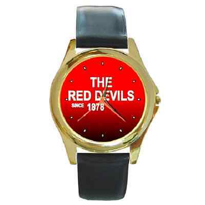 **new* The Red Devils Since 1878 United Round Wristwatch **great Gift Item**