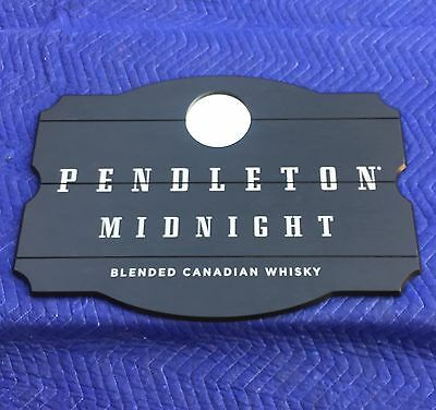 """Pendleton Midnight Blended Canadian Whisky Beer Bar Wood Mirror Sign """"New"""""""