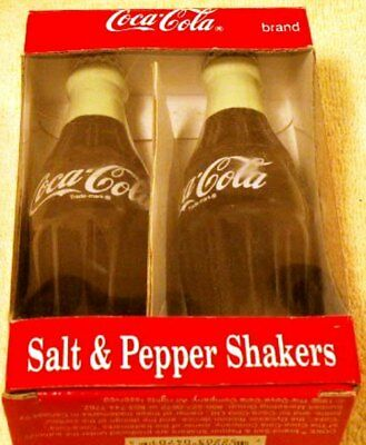 NEW Coca_Cola Salt & Pepper Shakers Original Box Looks Like Full Bottles