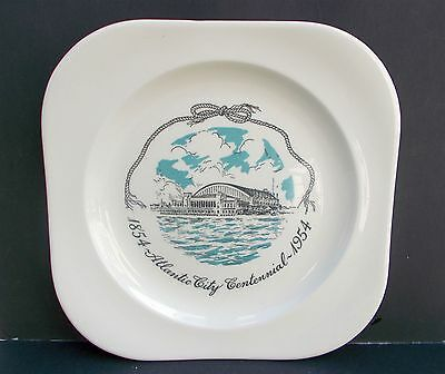 Vintage Atlantic City Centennial 1854 1954 Plate Betty Heiges Hard to Find