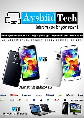 Samsung Galaxy s5 - Cracked Glass Screen Repair Service Black/White