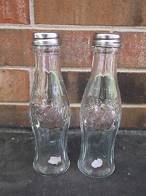 Coca-Cola Salt and Pepper Shakers Glass