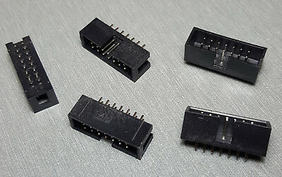 14 Pin IDC socket Vertical PCB Mount 2.54mm 2x7 Male Box header Pack of 5