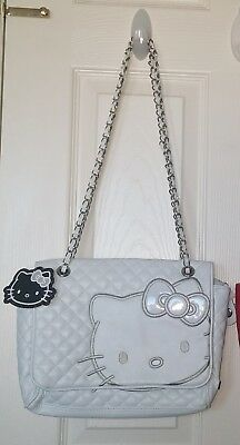 hello kitty quilted white bag purse