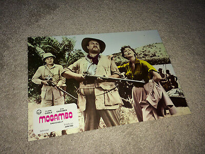 MOGAMBO Lobby Card Movie Poster 1953 Sexy Ava Gardner Jungle Adventure M8