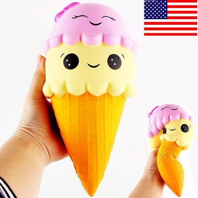 US Exquisite Fun Ice Cream Scented Squishy Charm Slow Rising Simulation Kids Toy
