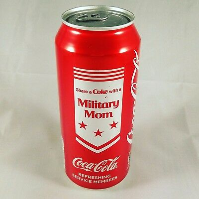 """Share a Coke with a Military Mom"" Limited Edition 16 oz Can - Full"