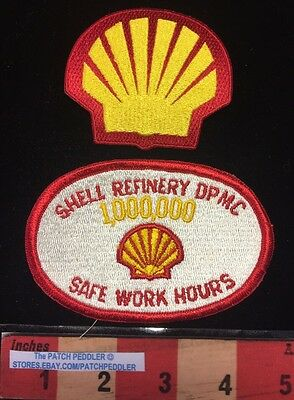 SHELL Logo Patch Lot DPMC 1,000,000 Safe Work Hours - ROYAL DUTCH Subsidiary 61E
