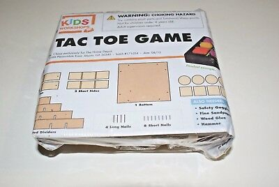 Lot of 3 Home Depot Kids Workshop Tic Tac Toe Game Wooden 171054 Wood Kit New!