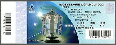 2013 RL WORLD CUP FINAL - AUSTRALIA v NEW ZEALAND @ MANCHESTER UNITED - TICKET