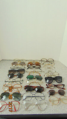 VINTAGE BIG LOT OF 27 Various Retro   50-60s 70s 80s EYEGLASSES RECOVERY AS-IS