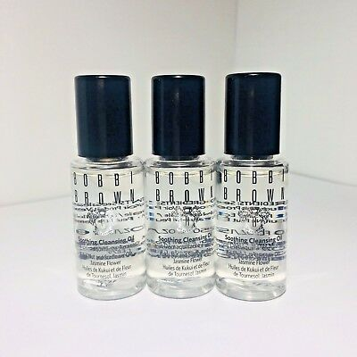 3 x Bobbi Brown Soothing Cleansing Oil 15ml / 0.5oz each Travel Size New Unbox