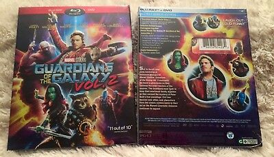 GUARDIANS OF THE GALAXY Vol. 2 (Blu-ray + DVD 2017) Marvel, *Free Shipping