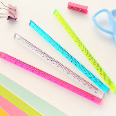 20cm Transparent Crystal Triangular Ruler Measuring Scale Student School Supply
