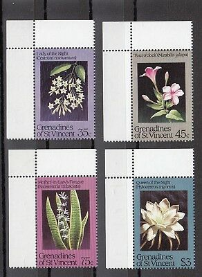 Timbre Stamp 4 Grenadines St Vincent Y&t#351-54 Fleur Neuf**/mnh-Mint 1984 ~A64