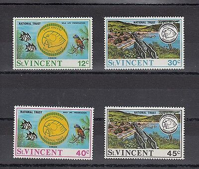 Timbre Stamp 4 Ile St Vincent Y&t#628-31 Faune Animal Neuf**/mnh-Mint 1993 ~A64