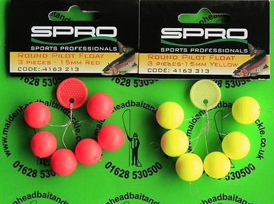 SPRO Mini Round Pilot Floats 15mm Blob Floats Trout Bite Indicators