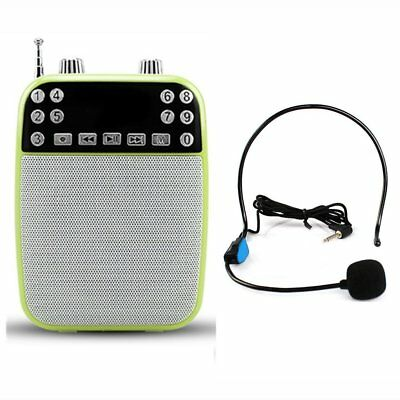 XIAOKOA Ultralight Portable Voice Amplifier With Wired Microphone, MP3 Player(SD