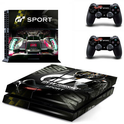 Sony PS4 Playstation 4 Console Skin Sticker New Gran Turismo  + 2 Controllers