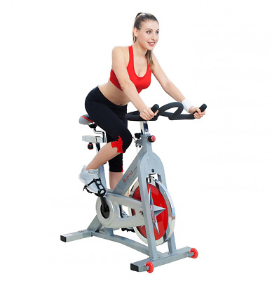 Sunny Health & Fitness Pro Indoor Cycling Bike Trainer indoor Gym Exercise Bike