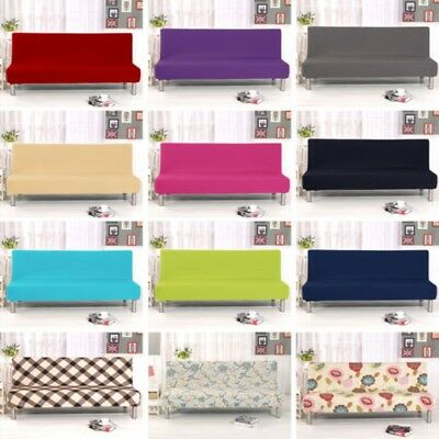 Folding Armless Sofa Futon Cover Furniture Seater Protector Couch Slipcovers New