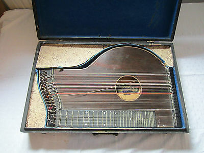 a very old Concert Zither by F. Jühling Dresden in wooden case