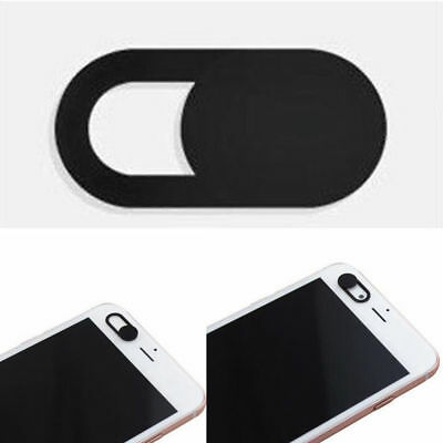 1X Black Plastic Computer Phone Webcam Cover Shield For Laptop Pad Protector NEW
